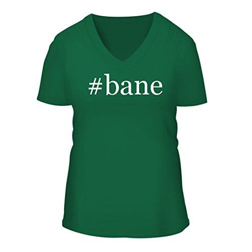 #bane - A Nice Hashtag Women's Short Sleeve V-Neck T-Shirt Shirt, Green, XX-Large