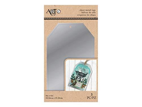 Kole Imports HI186-72 3 Piece Sheet Metal Craft Tag44; 4 x 6 in. - Case of 72