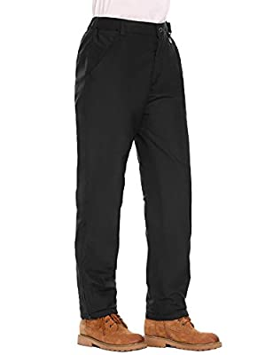 Zeagoo Women's Winter Outdoor Fleeced Mountain Hiking Insulated Snow Ski Cargo Pants