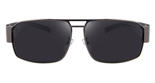 Tr90 Men S8452 Polarized Unbreakable MERRYS Gray Frame for Sunglasses Sports nXxf7nw4qR