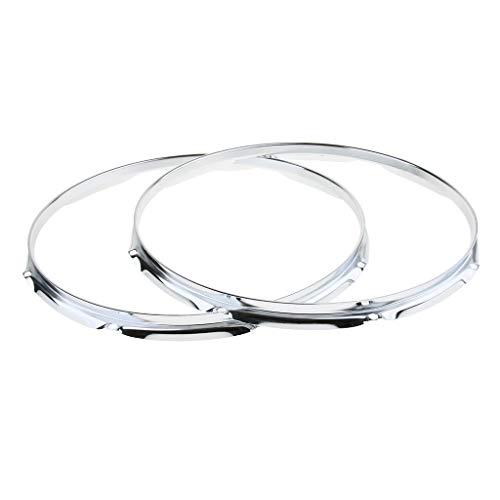 Almencla 1 Pair Iron Tom Drum Hoop Ring Rim - as described, 14inch 8 Holes