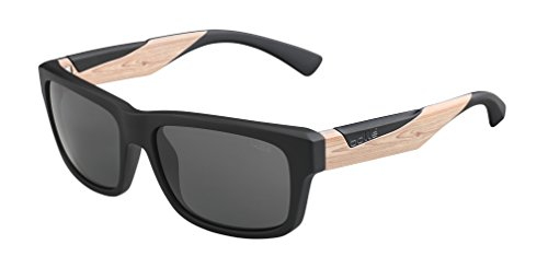 Bolle Jude Sunglasses Matte Black/Wood, - Sunglasses Bolle Jude