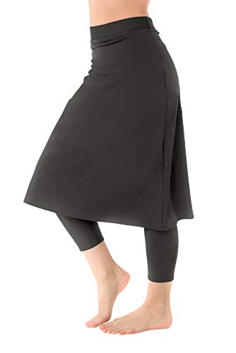 Undercover Waterwear Ladies Grey Swim Skirt with Attached Leggings -