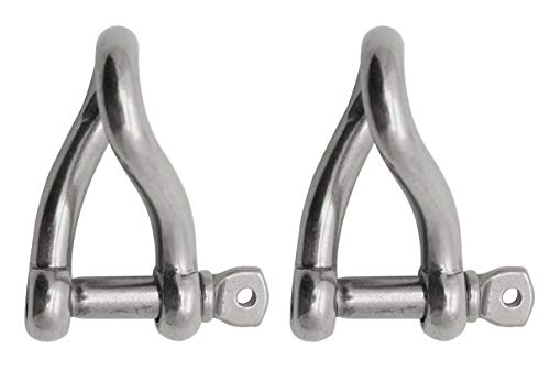 Extreme Max 3006.8219.2 BoatTector Stainless Steel Twist Shackle - 3/8