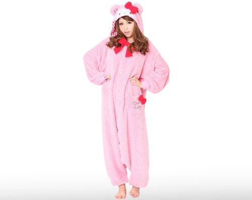 Japan Sazac Genuine Kigurumi Sanrio Hello Kitty Pink Teddy Bear Cosplay (Hello Kitty Cosplay)