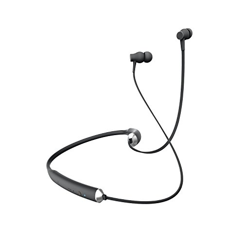 (Sharper Image SBT549BK Pro Flex Bluetooth Wireless Magnetic Earbuds, Flexible Behind The Neck Earbuds, Sweat-Resistant, 10 Hours Battery, Built-in Mic)