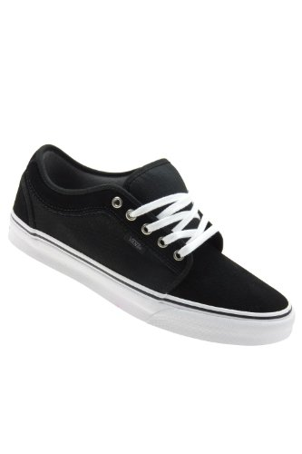 Vans Men Chukka Low Skate Shoes (9.5, Black/Pewter/White)