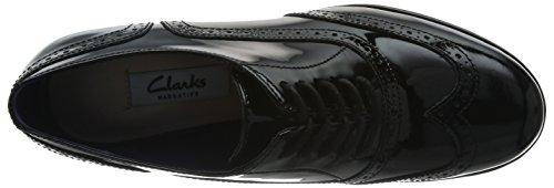 Hamble Clarks Oak black Nero Pat Donna Stringate qxR1x8Pz
