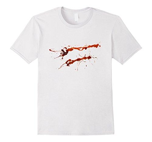 Mens Bloody Shirt Halloween Murderer Killer Costume Tee Outfit Medium (Halloween Murderer Costume)