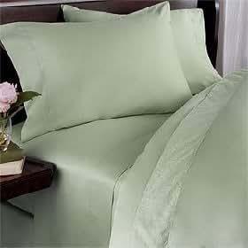 Egyptian Bedding 300 Thread Count Egyptian Cotton 300TC Duvet Set, King, Sage Solid 300 TC