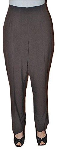 NKD Women's Slimming Espresso Brown Dress Pants (20W)