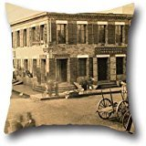 (Oil Painting F. Coombs - Corner Of Clay And Montgomery Streets, San Francisco. Throw Pillow Case 18 X 18 Inches / 45 By 45 Cm For Dining Room,play Room,divan,club,indoor,chair With Both Sides)