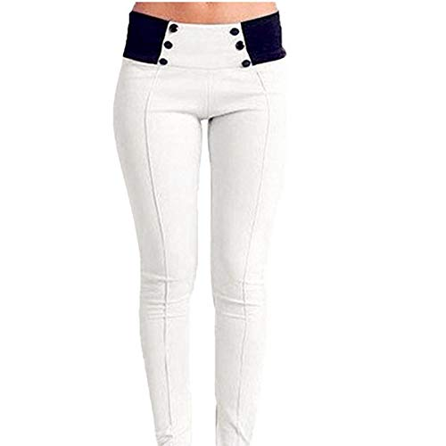 M FAIYIWO Women Jeans High Waist Pockets Casual Skinny Long Pants FAIYIWO Blue Size