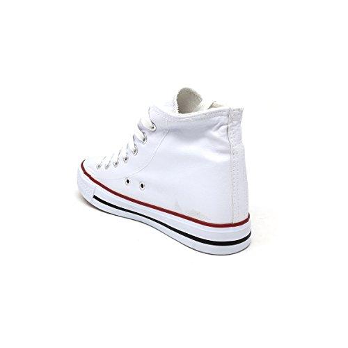 40 in in simile Pelle Bianco Converse Fondo Basso Tacco da Eco Donna da Gomma Scarpe Modello Antiscivolo Sneakers Ginnastica R6TAnf