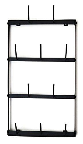 Claimed Corner Mini Wall Mounted Mug Rack - 4 Row Metal Storage Display Organizer For Coffee Mugs, Tea Cups, Mason Jars, and More. by Claimed Corner (Image #8)