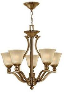 Bolla Transitional Chandelier - Hinkley 4655BR, Bolla Glass 1 Tier Chandelier Lighting, 5 Light, 500 Total Watts, Bronze