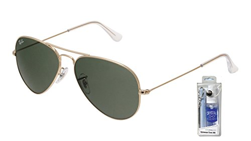Ray Ban RB3025 W3234 55mm Gold w/ Green Lens Aviator - W3234 Rb3025