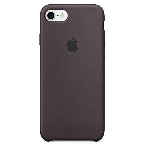 iphone 8 (4.7 Inch) Liquid Silicone gel simple anti-drop case,with Soft Microfiber Cloth Lining Cushion. (Cocoa) by Elf digital