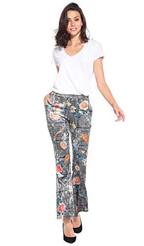Femme En Imprimée Pantalon Idees Gris 101 Velours OEqwfFXE1x