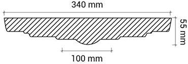 ROSACE de plafond POLYUR/ÉTHANE 1.014 diam/ètre 34 cm