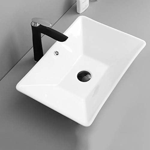 DS- バスルームの洗面台、(タップなし)超薄型セラミック上記カウンタ流域シンクの洗面化粧台、単一流域、2つのサイズの数 洗面ボール && (Size : 55X37X9.5cm)