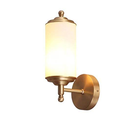 Chuiqingwang アメリカのヨーロッパのシンプルなすべての銅の壁ランプのリビングルームの寝室の廊下の入り口のバルコニーの壁ランプ   B07SQL793K