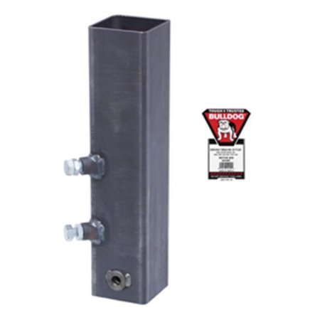 Bulldog Hex Jack (Bulldog 0233120300 Square Gooseneck Coupler Outer, Weld On, 20