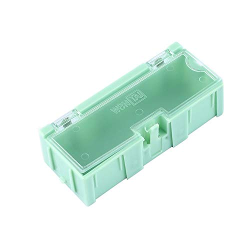 ouying1418 10pcs Small Object Screw Electronic Component Storage Box Lab Case SMT SMD