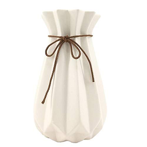 WEIDILIDU White Ceramic Vase Modern Home Decoration Porcelain Vase Flower Vase Origami Design (weidilidu-G4)