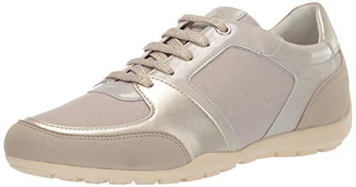 - Geox Women's RAVEX 1 Fashion Sneaker, Beige/Brown 39 Medium EU (9 US)