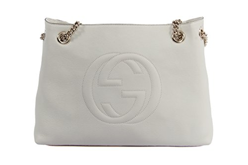 Gucci Soho Leather Chain Shoulder Handbag Off-White