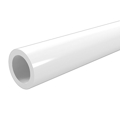 FORMUFIT P012FGP-WH-5 Schedule 40 PVC Pipe, Furniture Grade, 5', 1/2