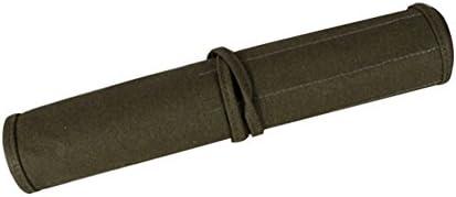 Armeegr/ün 40 x 33cm gr/ün Pinselhalter zum Aufrollen 22 F/ächer f/ür Malerpinsel Leinen