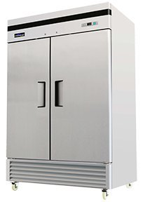 TWO DOOR COMMERCIAL FREEZER - BOTTOM MOUNT - REACH IN - 49 CU. FT. by FRIDGCON