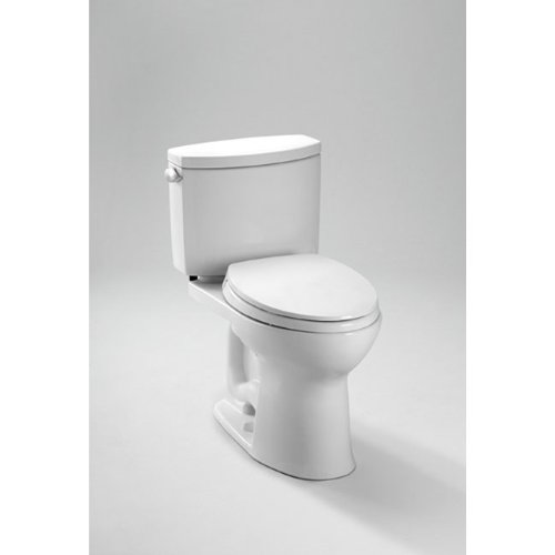 TOTO CST454CEFG#01 Drake II 2-Piece Toilet with Elongated Bowl and Sanagloss,1.28 GPF,  Cotton White (Ada Compliant Elongated Bowl)