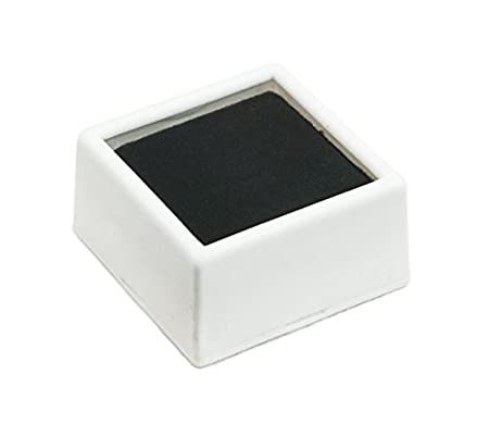 Black Square Glass Top with 2-sided Foam Insert Gemstones Jewelry Display Pack of 12