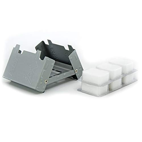 Esbit Ultralight Folding Pocket Stove with Six 14g Solid Fuel Tablets ()
