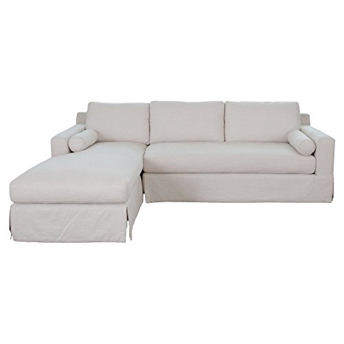 Elements Fine Home Haley Fabric Sectional (Down Sectional Sofa)