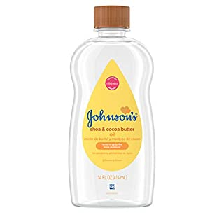 Johnson's Baby Oil, Mineral Oil Enriched With Shea & Cocoa Butter to Prevent Moisture Loss, Hypoallergenic, 14 fl. oz (Pack of 6)