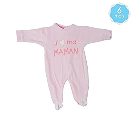 Pelele bebé Rosa 6 meses - Quiero a mi mama