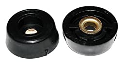 Round Rubber Cabinet Equipment Feet Recessed Bumpers .859\