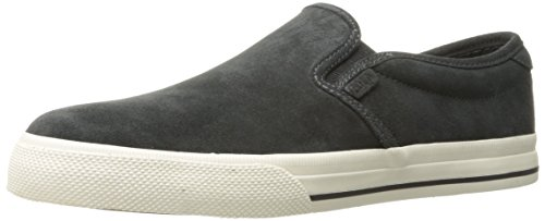 Polo Ralph Lauren Men's Vaughn Slip Sneaker, Dark Charcoal Grey, 11 D - Lauren On Ralph Slip