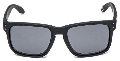 Cressi Blaze - Lunettes de Soleil Haute Qualité Polarisées Anti UV Noir Opaque/Lentilles Gris Foncé