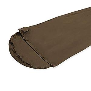 Snugpak Fleece Sleeping Bag Liner with Side Zip, Desert Tan