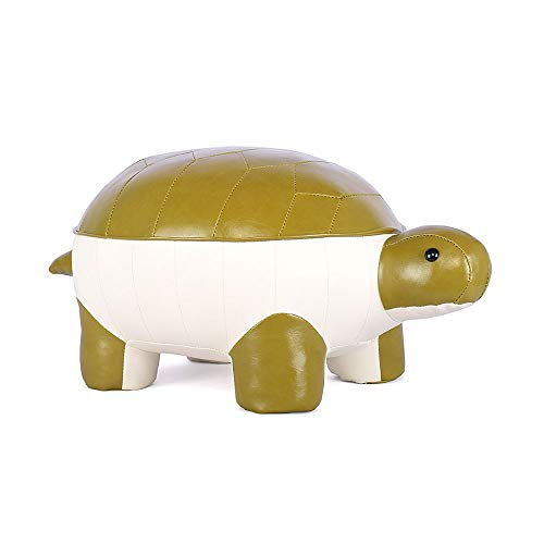 (CHENG New Cartoon Turtle Sofa Bench, Creative Cute Children/Adult Ottoman Seat Riding Toy Shoes Bench Lucky Stool Stool Living Room Decoration Stool Animal Stool can Bear 150KG Easy to Clean)