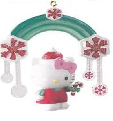 Carlton Heirloom 2011 Hello Kitty With Rainbow Ornament #CXOR120Z
