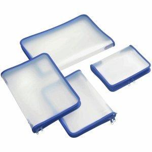 FolderSys Zip Tasche A5/in PP Zip Blu