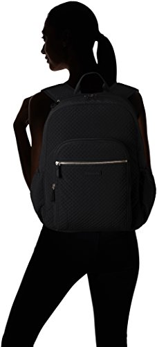 31ixGmLVT L - Vera Bradley Iconic Campus Backpack, Microfiber, Classic Black