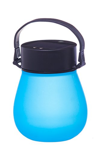 Firefly Blue Bell-Shaped Indestructible Silicone Solar Powered LED Emergency Power Light with Water-Tight Twist - Pembroke Shops Of Gardens