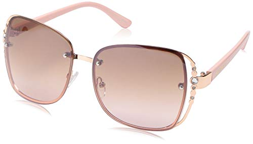 Rocawear Women's R3284 Rgdrs Non-Polarized Iridium Round Sunglasses, Gold Rose, 65 mm